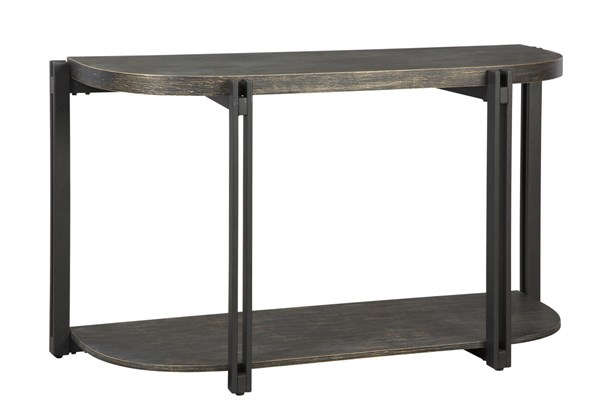 Winnieconi Contemporary Black Wood Metal Sofa Table T857-4