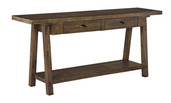 Dondie Casual Brown Wood Rectangle Sofa Table T863-4