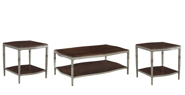 Lavidor Traditional Classics Brown Coffee Table Set LAVIDOR-OCT-BNDL