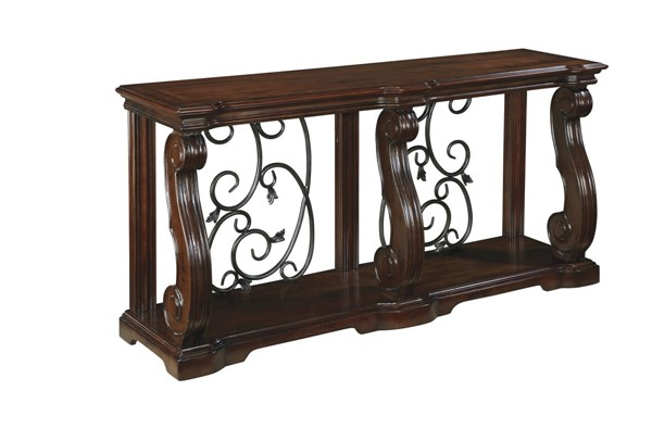 Alymere Vintage Casual Rustic Brown Sofa Table T869-4