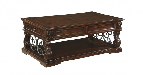 Alymere Vintage Brown Wood Lift Top Cocktail Table T869-9