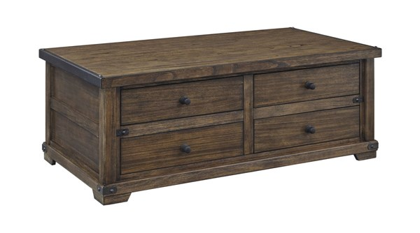 Ashey Furniture Zenfield Old World Cocktail Table The