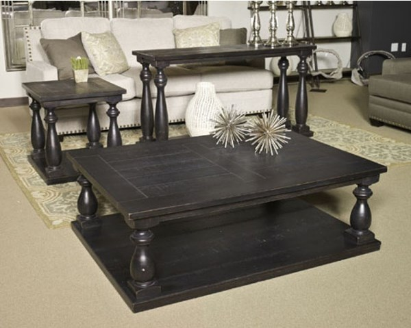 Mallacar Vintage Casual Black Coffee Table Set T880-BNDL