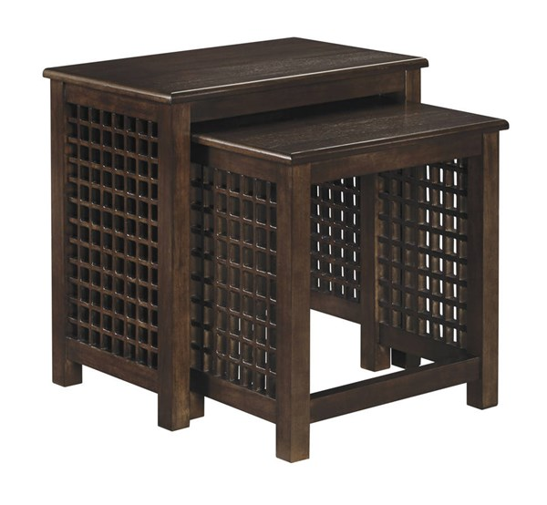 2 Roxenton Casual Brown Solid Wood Nesting End Tables T885-16