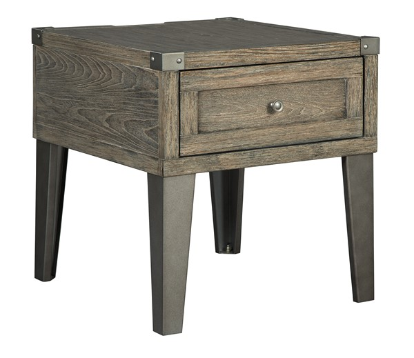 Ashley Furniture Chazney Rustic Brown Rectangular End Table T904-3