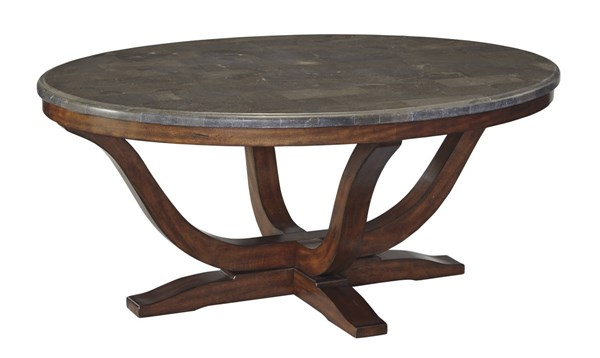 Balinder Vintage Casual Medium Brown Oval Cocktail Table T908-0