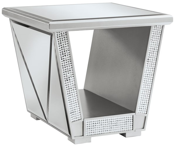 Ashley Furniture Fanmory Silver Square End Table T910-2