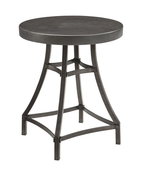 Starmore Contemporary Brown Solid Wood Metal Round End Table T913-6