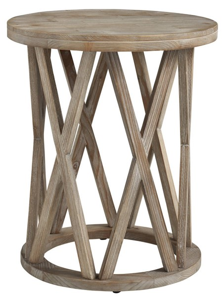 Ashley Furniture Glasslore Light Brown Round End Table T921-6