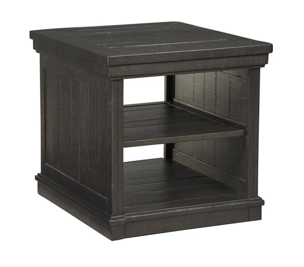 Sharlowe Casual Charcoal Solid Wood Rectangular End Table T935-3