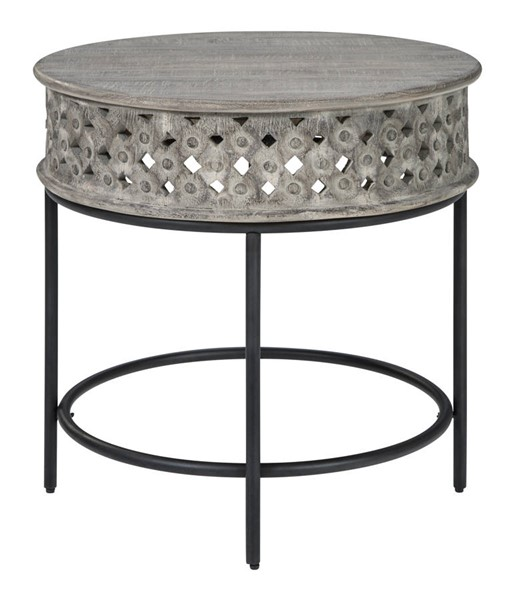 Ashley Furniture Rastella Gray Black Round End Table T968-6