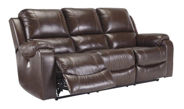 Ashley Furniture Rackingburg Mahogany Reclining Power Sofa U3330187