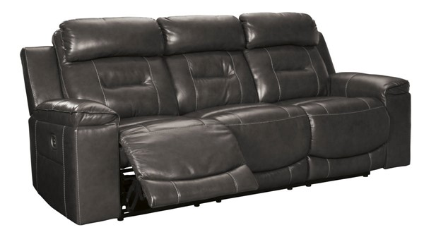 Ashley Furniture Pomellato Gray Power Reclining Sofa With Adjustable Headrest U5010115