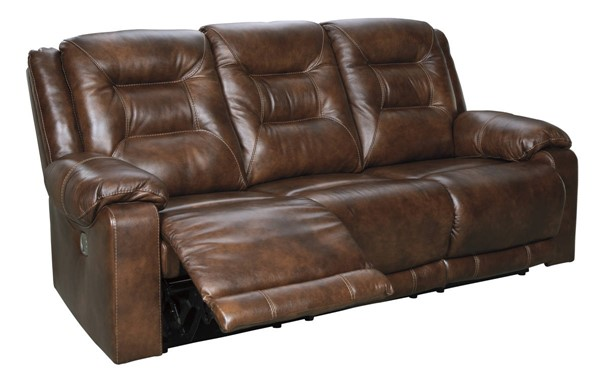 Ashley Furniture Golstone Canyon Power Reclining Sofa With Adjustable Headrest U5100115