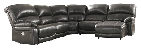 Ashley Furniture Hallstrung 5pc Power RAF Sectionals With Chaise U5240-SEC-VAR6