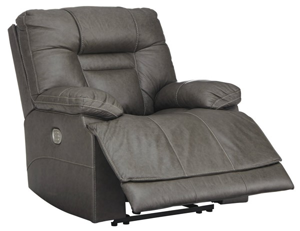 Ashley Furniture Wurstrow Smoke Power Recliner With Adjustable Headrest U5460213