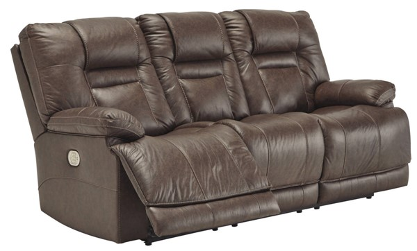 Ashley Furniture Wurstrow Umber Power Reclining Sofa With Adjustable Headrest U5460315