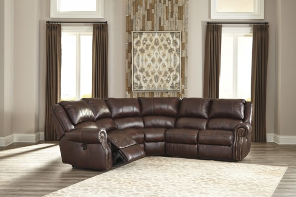 Collinsville Contemporary Chestnut Leather Armless Recliner U7210019