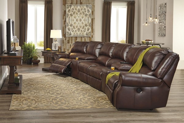 Collinsville Chestnut Sectional W/2 Armless Chair U72100-LR4