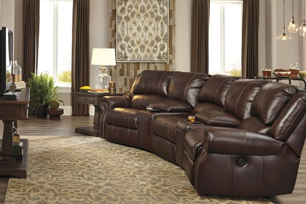Collinsville Chestnut Sectional W/1 Armless Chair U72100-LR3