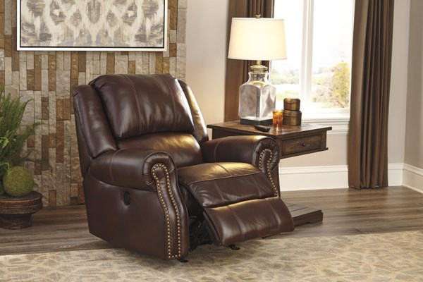 Collinsville Contemporary Chestnut Rocker Recliner U7210025