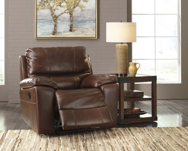 Penache Contemporary Saddle Faux Leather Rocker Recliners U72900-LR-VAR1