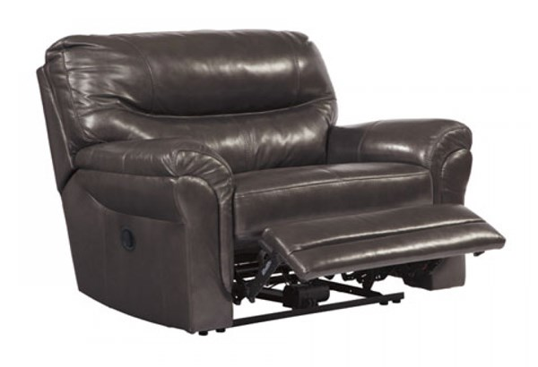 Banetonville Contemporary Metal Wide Seat Recliner U7300052