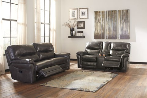 Banetonville Contemporary Metal Leather 3pc Living Room Set U73000-LR-S1