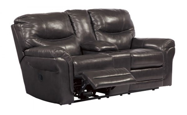 Banetonville Contemporary Metal Double Reclining Loveseats W/Console U73000-LR-VAR