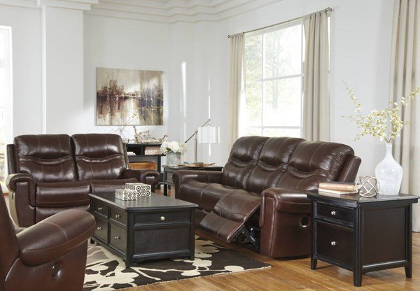 Casscoe Contemporary Metal Leather 3pc Living Room Sets U7430225-LR-S