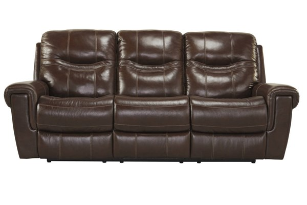 Casscoe Contemporary Metal Leather Reclining Sofas U7430288-SF-VAR
