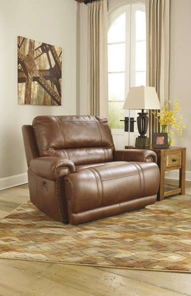 Paron Contemporary Metal Leather Zero Wall Wide Seat Recliners U7590-REC-VAR