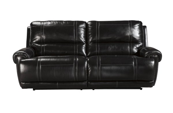 Paron Contemporary Antique Metal Leather 2 Seat Reclining Power Sofa U7590147