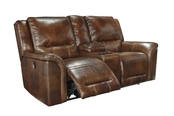 Jayron Contemporary Harness DBL Rec Loveseat w/Console U7660094