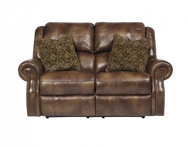 Walworth Traditional Classics Auburn Leather Reclining Loveseat U7800186