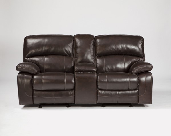 Damacio Dark Brown Leather Reclining Loveseat U98200-LS