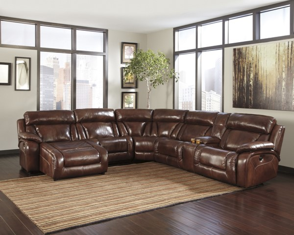 Elemen Harness Leather Sectional w/LAF Power Chaise U99201-SEC-S1