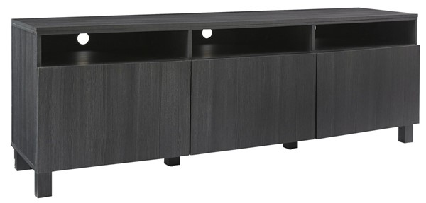 Ashley Furniture Yarlow Black Wood Extra Large TV Stand W215-66