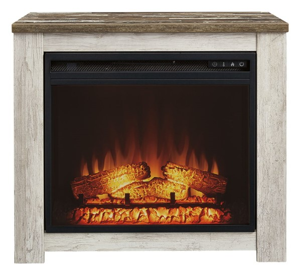 Ashley Furniture Willowton Whitewash Mantel Fireplace W267-368