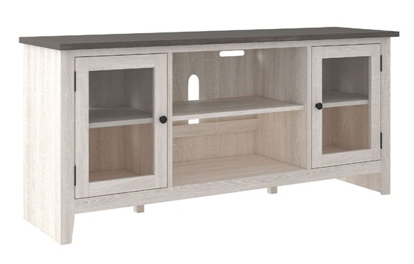Ashley Furniture Dorrinson Two Tone LG TV Stand With Fireplace Option W287-68