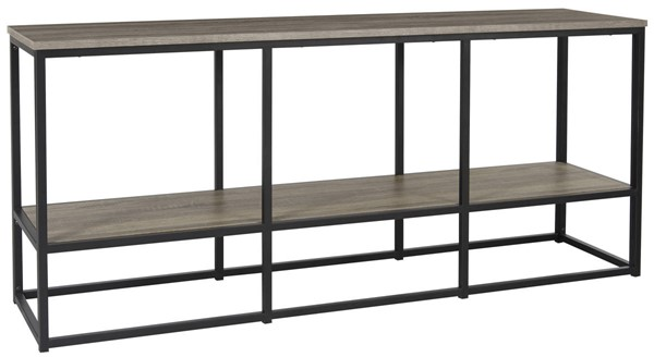 Ashley Furniture Wadeworth Brown Black Extra Large TV Stand W301-10