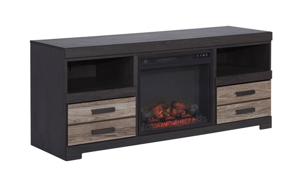 Ashley Furniture Harlinton Modern TV Stand With Fireplace W325-68-W100-01