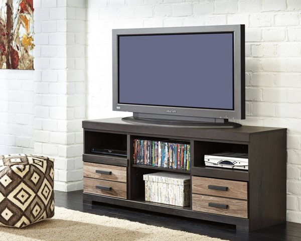 Harlinton Contemporary Two Tone Wood LG TV Stand W/o Fireplace W325-68