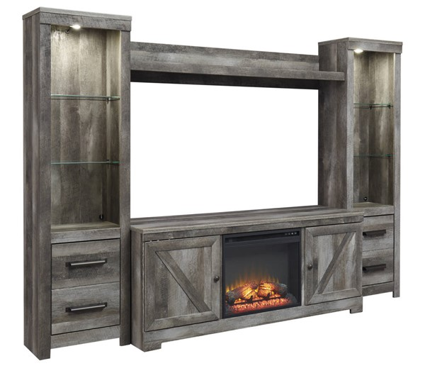 Ashley Furniture Wynnlow Gray Entertainment Center With