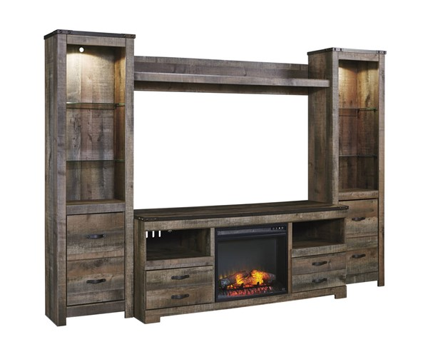 Ashley Furniture Trinell Entertainment Unit With Fireplace