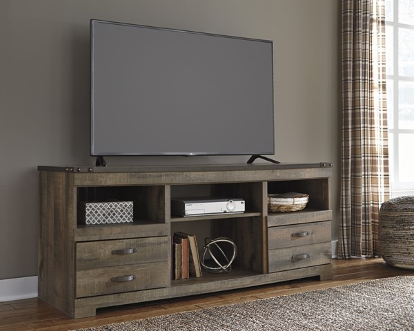 Trinell Vintage Casual Brown LG TV Stand W/o Fireplace W446-68