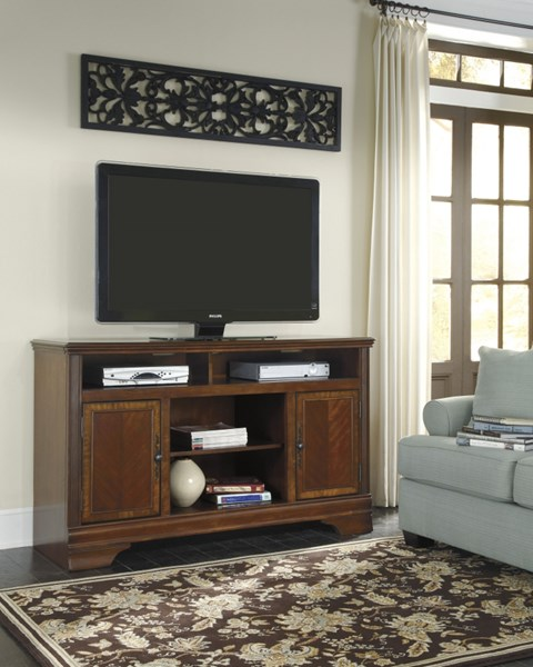 Hamlyn Traditional Dark Brown Wood LG TV Stand W/o Fireplace W527-68
