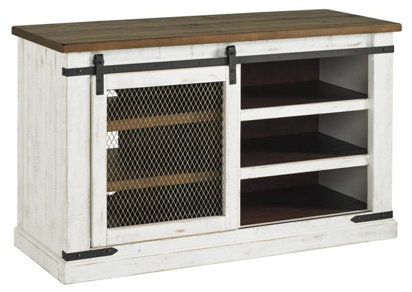 Ashley Furniture Wystfield White Brown TV Stands W549-TV-VAR