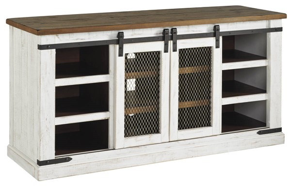 Ashley Furniture Wystfield White Brown Large TV Stand W549-48