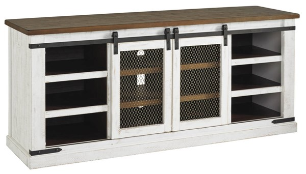 Ashley Furniture Wystfield White Brown Extra Large TV Stand W549-68